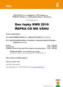 Pozvánka na den řepky KWS 2016_Těšetice a Otrokovice